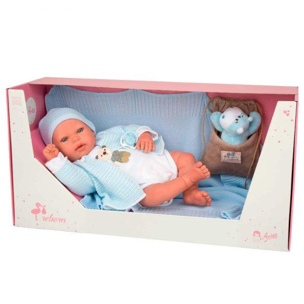 bebe reborn adrian con manta peluche y bolsa multiusos 4