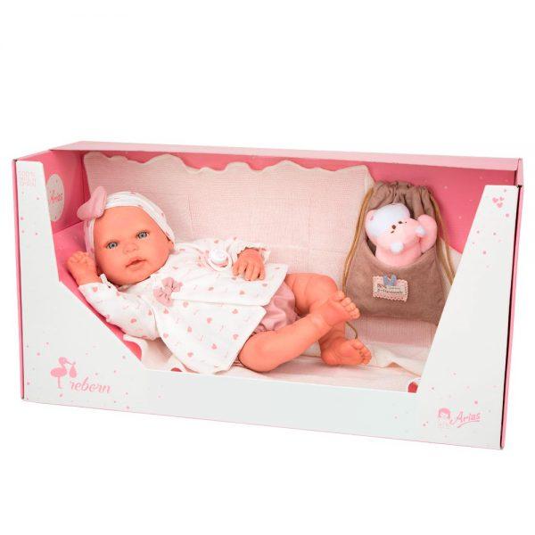 bebe reborn eva con manta peluche y bolsa multiusos 4