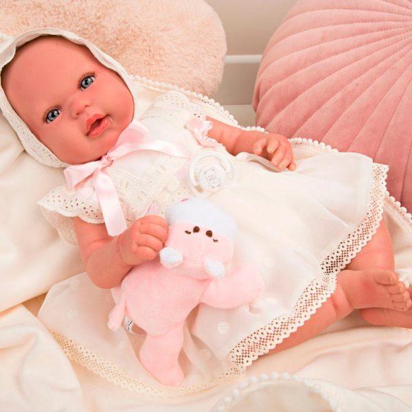 bebe reborn gaia con manta y peluche