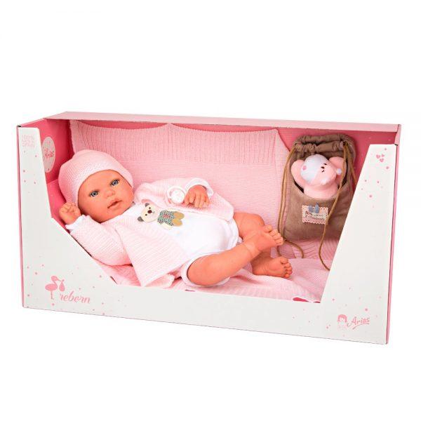 bebe reborn iare con manta peluche y bolsa multiusos 4