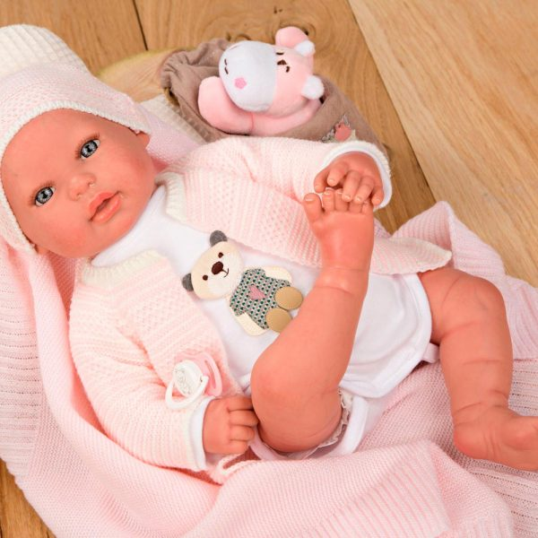 bebe reborn iare con manta peluche y bolsa multiusos