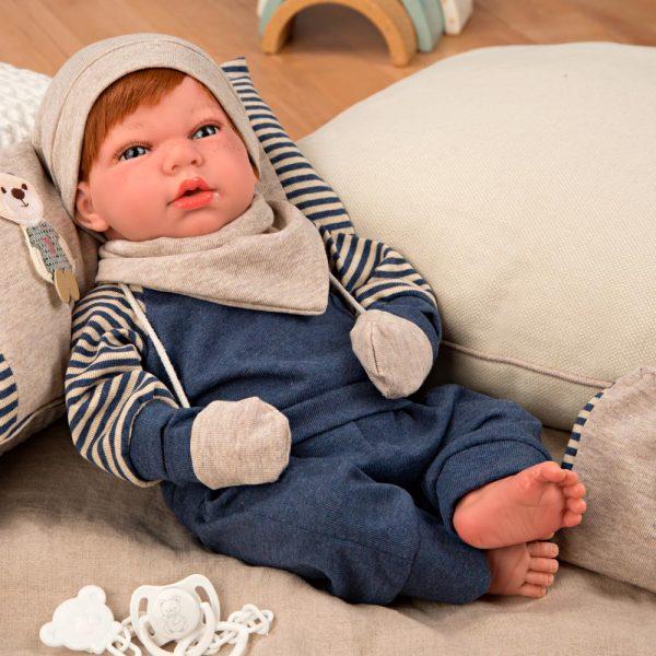 muneca con peso elegance andie azul con cojin manoplas y bolsa multiusos